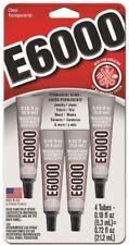 E6000 Industrial Strength Adhesive Permanent Bond Flexible Clear Glue Mini Pack