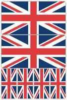 Union Jack Flag Laminated Sticker Set Small Car Motorcycle Norton Triumph Decals