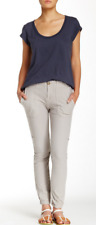 James Perse Slim Knit Twill Utility Pant 28 NWT $225