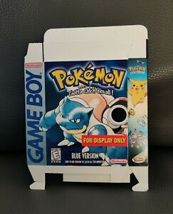 Nintendo Pokemon Blue Game Boy For Display Only Display Box Unfolded RARE