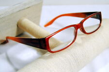 JM New York Reading Glasses +3.50  Lens Copper Frame Spring Hinged Reader