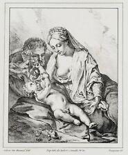 W.FRANQUINET(*1785) nach v.Werff, Heilige Familie mit Christuskind, Lithographie