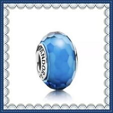 Pandora Murano Glass Charm Turquoise Faceted Bead Silver S925 ALE 791607 New