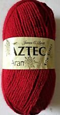 James C Brett Aztec Aran 100g Ball Shade AL7 RED