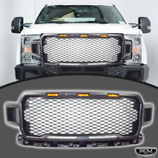 Fit For 18 19 Ford F150 Raptor Style Grill Matte Black With Ambar Lights Grille