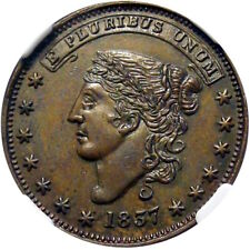 1837 New York City Hard Times Token George Jarvis NGC MS64 Rare This Nice