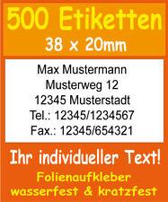 1200 Etiketten selbstkl Weiß 105 x 48 mm TIPP Adressaufkleber Brief Mailing