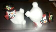 Fitz and Floyd Christmas Snowmen Figurines