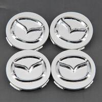 yongyong2018888 4X Wheel Center BADGE Caps HUB 56mm MAZDA 2 3 6 CX-3 CX-5 MX-5 BLACK CHROME LOGO