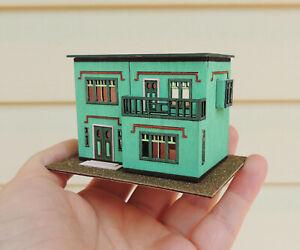 1:144 Scale Art Deco Dollhouse KIT- Miniature DIY Gift