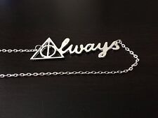 HARRY POTTER DEATHLY HALLOWS INSPIRED ALWAYS NECKLACE CHARM PENDANT JEWELLERY UK