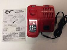 MILWAUKEE 48-59-1808 18V 18 VOLT M12 / M18 RAPID CHARGE Lithium Ion Charger NEW