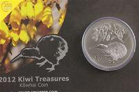 Neuseeland Kiwi Treasures Kowhai Flower 1 Unze oz Silber 2012 BU Blister
