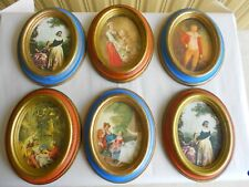 6 vintage Italy handcrafted oval Picture frames set for Action, Cheswick Pa