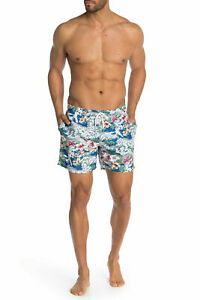 Slate & Stone Floral Printed Swim Shorts, Size XL, MSRP $98