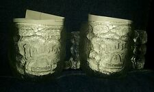 Lot 2 Matching Flintstones McDonalds Glass Mugs rocky road 1993 RocDonalds cups