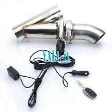 New 2.5'' 63mm Electric Exhaust Catback Downpipe Cutout E-Cut Out Valve System