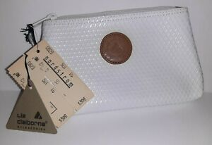 Liz Claiborne Vtg Logo White Triangle Early 80's NEW Cosmetics Make Up Bag Pouch