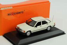Mercedes-Benz 190 E W201 1984 weiss diecast 1:43 Minichamps Maxichamps