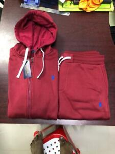 NWT RalphLauren Mens Athletic Classic Fleece Hoodie Sweatpant TrackSuit Size XXL