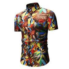 Formal tops slim fit men's t-shirt luxury short sleeve casual dress shirt summer