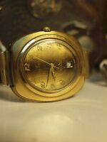 VINTAGE ALGEX / 25 JEWEL AUTOMATIC (10495) MENS OVAL SWISS MADE WATCH WITH DATE