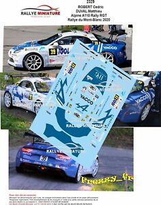 DECALS 1/43 REF 2329 Alpine A110 Rally RGT ROBERT Rallye du Mont-Blanc 2020