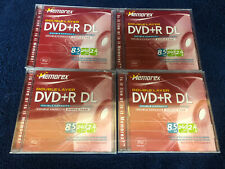 (4) Memorex Double Layer Dvd+R DL