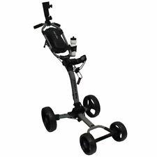 Axglo Golf- Flip N' Go Push Cart *Gray Frame/Black Wheels* - NEW