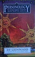 PERSONOLOGY IL ILNGUAGGIO SEGRETO DELLE DATE DI NASCITA 20 GENNAIO - PIEMME 1998