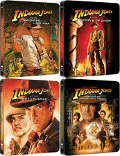 Indiana Jones Quadrilogy Blu-ray Embossed OOP Steelbook 1-4 Box-Set New & Sealed
