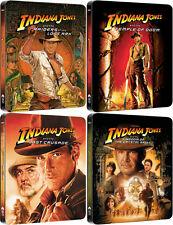 Indiana Jones Quadrilogy Blu-ray Embossed OOP Steelbook 1-4 Box-Set New & Sealed