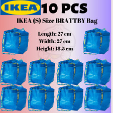 IKEA 10 pcs BRATTBY NEW SMALL 3.5 GALLON BLUE SHOPPING LAUNDRY GROCERY TOTE BAGS