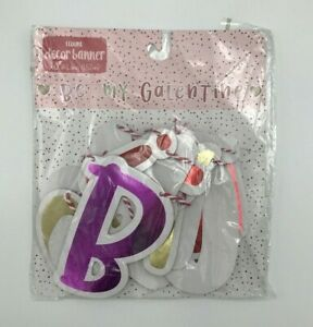 """""""Be My Galentine"""" Banner 60"""" long Valentine's Day Decoration Photo Prop w/Hearts"""