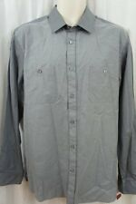 Alfani Mens Casual Shirt Sz L Shark Gray Business Button Down Slim Fit Shirt