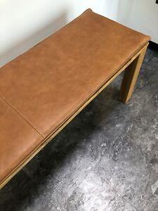 60-200x3cm Bankauflage Kissen echt Leder Vintage Retro Used Look rutschfest
