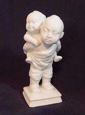 Vintage Fitz & Floyd Figurine Asian Blanc De Chine White Porcelain Ff Decor