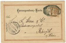 GA Österreich 1895 Correspondenz-Karte Karlsbad nach Rheydt