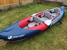 Sevylor Tahiti Plus 2+1 Man Canadian Canoe Inflatable Sea Kayak 361 x 90 cm