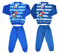 Pigiama lungo Bambino in Cotone Jersey Disney MICKEY EWDB282 Bimbo mod. Serafino