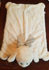 "Bearington Baby Collection Plush Ivory Lamb Belly Play Mat 30"" x 20"""