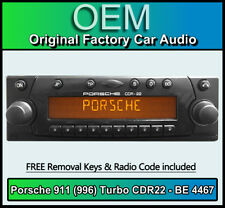 Porsche 911 996 Turbo CDR22 cd player, Becker BE 4467 radio + code Removal Keys