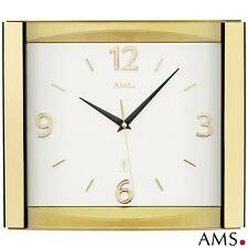 Ams 5613 radio reloj de pared Oficina cocina cristal mineral color oro