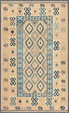Blue 6' x 10' Kilim Rug Hand Knotted Oriental Rug