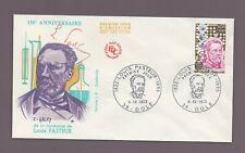 FDC 1973 - 150e anniversaire de la naissance de Louis Pasteur   (1913)