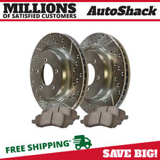 Front Performance Drilled Slotted Brake Rotors & Ceramic Pads Kit