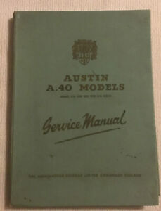 AUSTIN A40 SOMERSET VAN COUPE PICK-UP SPORTS 1957 FACTORY REPAIR MANUAL