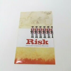 2003 Risk Game Replacement Parts Pieces- Officer's Command Manual Instructions