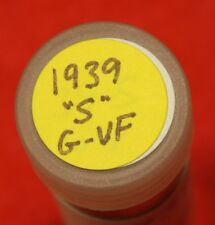 1939-S LINCOLN WHEAT CENT PENNY 50 COIN ROLL G-VF COLLECTOR COINS GIFT R4