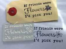 If Friends Were Flowers, I'd Pick You! Typewriter Font Clear Stamp for Birthdays
